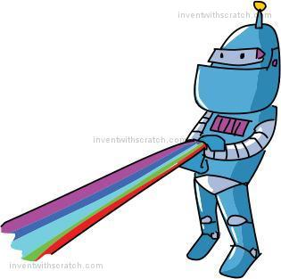 SHIFT Click The Green Flag To Run Rainbow Lines Program In Turbo Mode Almost Instantly Screen Fills Up End